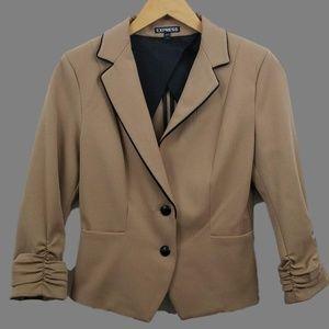 Express Tan Blazer Jacket Size 4 Style 55285